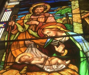 Stain Glass Image of Nativity
